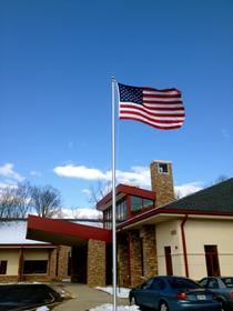 aluminum flagpole from bald eagle flag store fredericksburg va