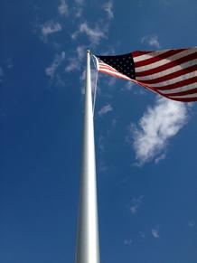 large flagpole and american flag from bald eagle flag store fredericksburg va