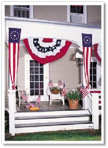 flag bunting at bald eagle flag store va