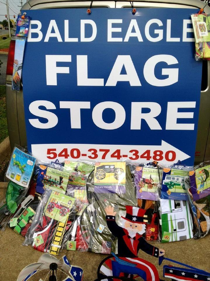 bald eagle flag store fredericksburg va, american flag, state flag, military flag, church flag, indoor flag, custom flag, kite, windsock, whirligig, garden flag