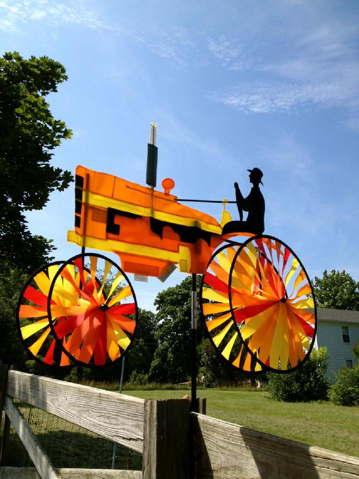 Orange Tractor Spinner Sales By Bald Eagle Flag Store