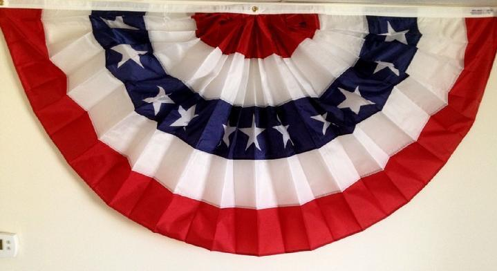 Patriotic decoration sales by bald eagle flag store for American flag decoration