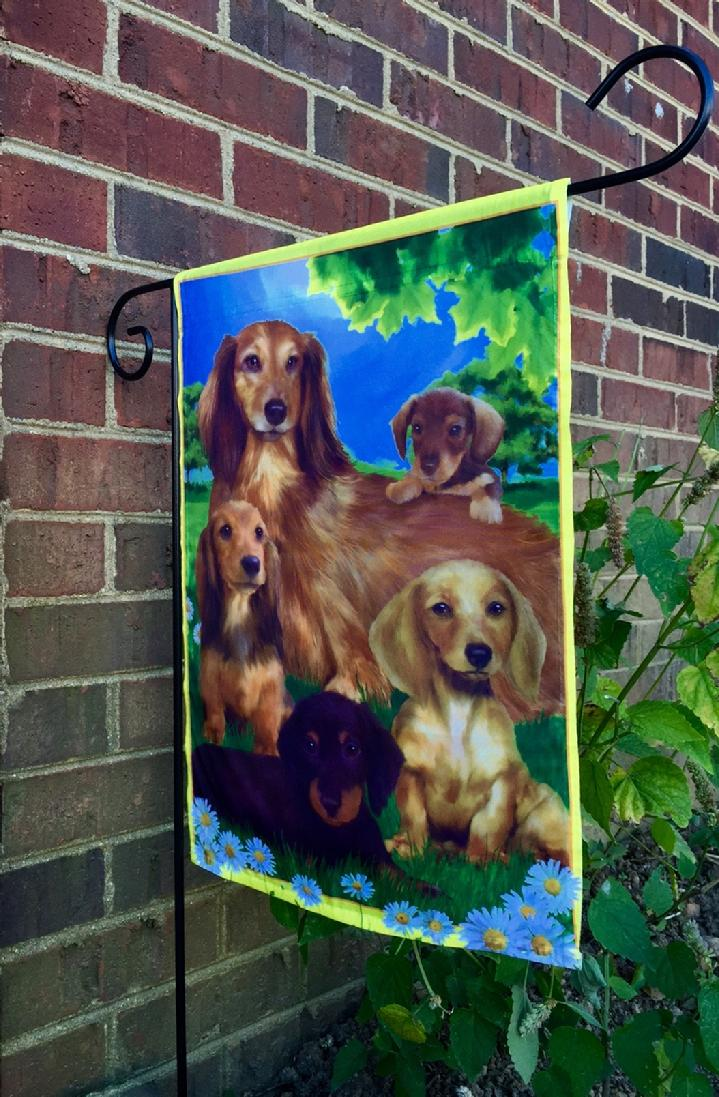 BEAUTIFUL DACHSHUND FLAG FROM BALD EAGLE INDUSTRIES AT BALD EAGLE FLAG  STORE FREDERICKSBURG VIRGINIA USA (