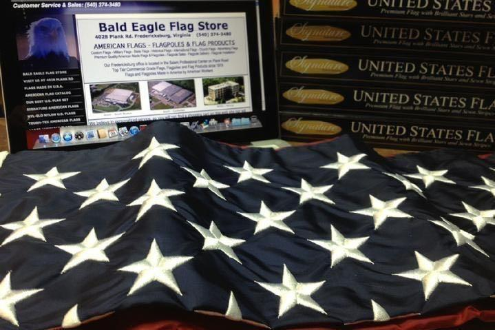 FLAGPOLE SALES CUSTOM FLAG SALES AND UNITED STATES FLAG SALES BY BALD EAGLE FLAG STORE DIVISION OF BALD EAGLE INDUSTRIES FREDERICKSBURG VA USA, PHOTOGRAPH BY BALDEAGLEINDUSTRIES.COM (540) 374-3480