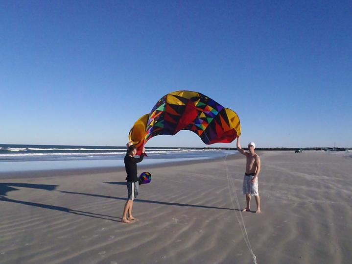 mega sled kite from bald eagle flag store and kite shop