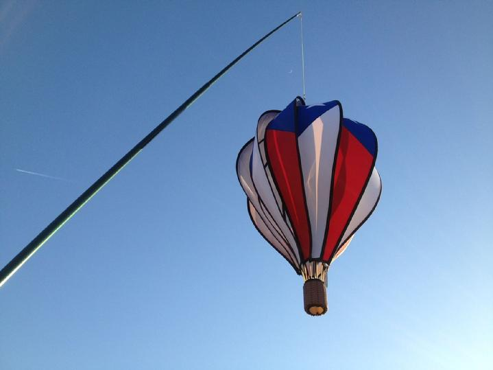 patriotic hot air balloon spinning in the air at bald eagle flag store plank road fredericksburg va